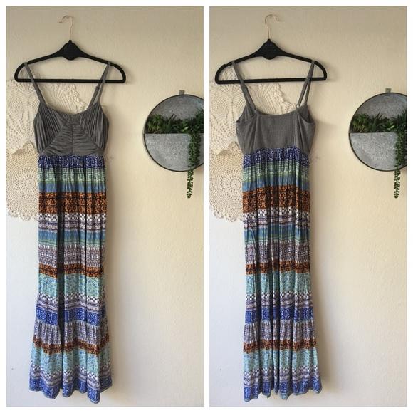 Anthropologie - Lilka Gray Ruched Midi/Maxi Dress